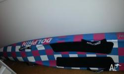 Blue and pink dolphin surf craft. Only used a few