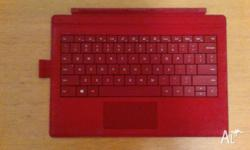 Selling a red surface pro 3 type cover. Lightly used