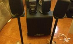 Onkyo AV Receiver, Klipsch 5 speakers with 2 stands and