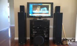 Surround sound stereo system Yamaha with DVD player