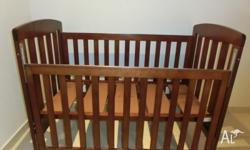 Sussex XT cot Solid timber cot with slat sides.