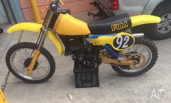 Up for sale my 1980 RM125T. Runs well new parts as in