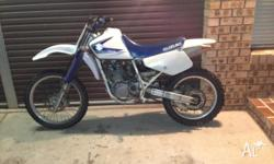 DR 350 Kickstart . Goes well. Very torquey. Only