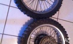 Suzuki dr350 wheels 1999 good condition front and rear