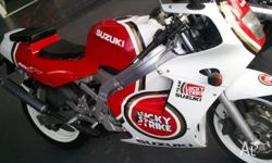 "FOR SALE: SUZUKI RGV250 06/1990 MODEL BIKE, ""LUCKY"