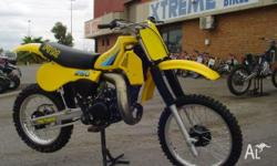 SUZUKI,RM250,1983, MOTOCROSS, This has a fully rebuilt
