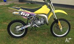 2009 Suzuki RM85L for sale. Selling due to my son out