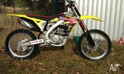 I am selling my RMZ 250 due to upgrading. Serviced, oil