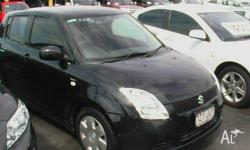 SUZUKI,SWIFT,EZ,2006, FWD, Black, 5D HATCHBACK, 1490cc,