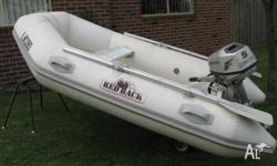Redback inflatable aluminium hull boat. Approx 2.5 mtrs