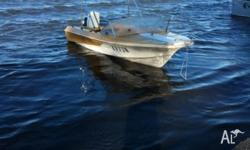 Swiftcraft 15' fiberglass fishing boat with trailer and