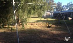 I have a large steel A frame for children's swings to