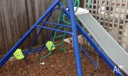 All good condition, slide and swing set.