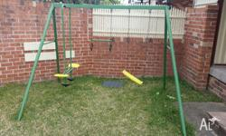 Offering a children's swing set for a very reasonable