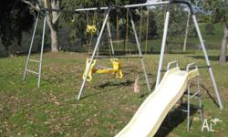 Child Swing Set with Slide Still in Good Condition Just