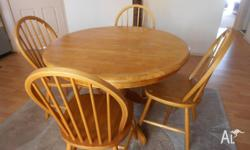 Wooden table and chairs in good condition