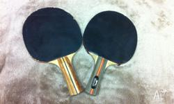 Table Tennis Rackets (1 Dunlop + 1 Slazenger) Contact