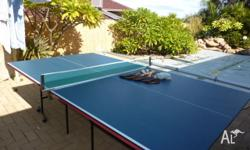 Folding table tennis table. Excellent condition. Comes