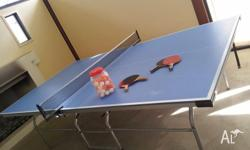 Table tennis/ping pong table and accessories as shown