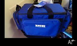 Rogue Fisherman's Tackle bag. Multiple front and side