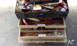 4 tray Plano tackle box, plus everything in it includes