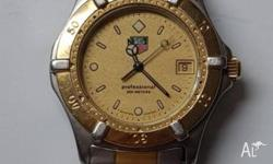 Gents 2 tone Tag Heuer swiss watch. This watch comes