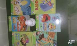 Selling a Tag Junior pen and six books as per picture,