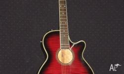 Takamine thinline acoustic guitar for sale. Has high /