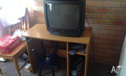 Samsung Tv, Sony dvd player and desk. Take the lot.