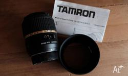 This lens is for a Nikon APS-C sensor camera and also