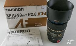 Tamron SP AF 90mm f/2.8 Di Macro for Pentax. Includes