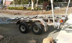 I have a tandem boat trailer for sale.The side runner