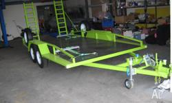 Tandem Car Trailer in very good condition, it has
