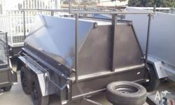8X5 HEAVY DUTYTANDEM TRAILER WITH TRADESMAN TOP- BRAND