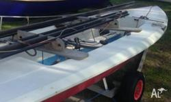 Red Tasar dinghy for sale $1,500 or nearest offer. 4.3