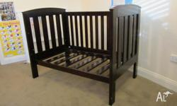 I'm selling a TasmanEco cot and change table. Including