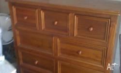 1 Teak chest of drawers. In excellent condition.