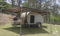 Teardrop Camper. Light weight. Aluminium frame and