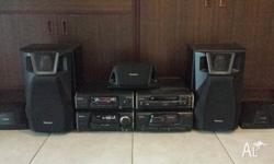 Technics hifi stereo 5 disc 5 channel . In good