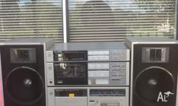 Technics midi system comprising 60 wpc amplifier