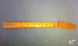 Beautiful flame maple guitar neck. 21 frets. Perfect to