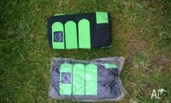 Green and black Tendon/Sling neoprene boots. 2 pairs