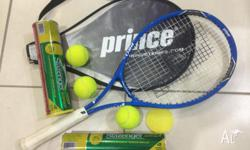 Tennis racket from prince incl 7 tennis balls and