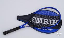 Tennis Racket (blue cover) - in good condition - $25