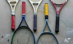 5 racquets for sale.. good to reasonable condition $5