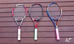 3 (older) Tour Tennis racquets for sale! $80 for all 3