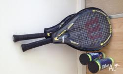 Hi there, I have two Wilson Tour Slam tennis racquets