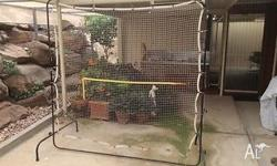 This is a well used tennis rebound net. The net is