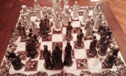 Classic Wooden Tiled Chess Board Terracotta / Ceramic