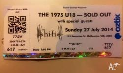 Selling one ticket to the under 18 'The 1975' concert